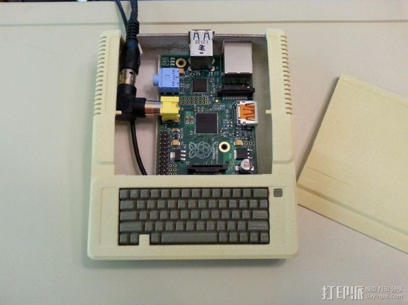 苹果二代电脑树莓派外壳 3D打印模型渲染图