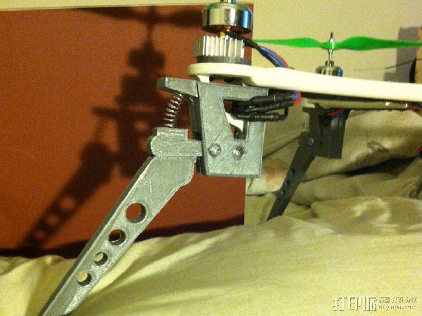 四轴飞行器减震起落架 3D打印模型渲染图