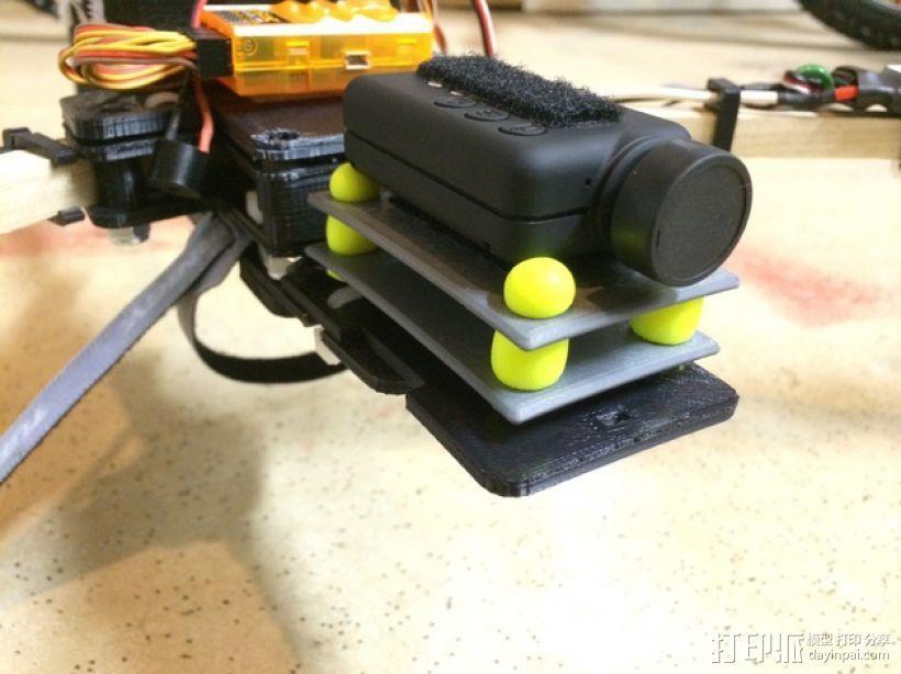 Mobius/GoPro相机 防振底座 3D打印模型渲染图