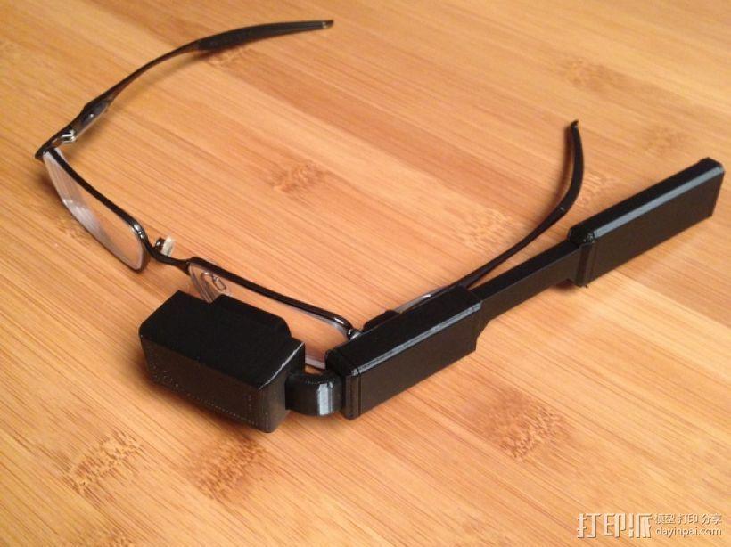DIY视频眼镜 3D打印模型渲染图