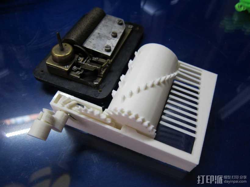 音乐盒 3D打印模型渲染图