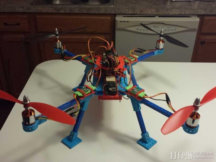 无人机 3D打印模型渲染图