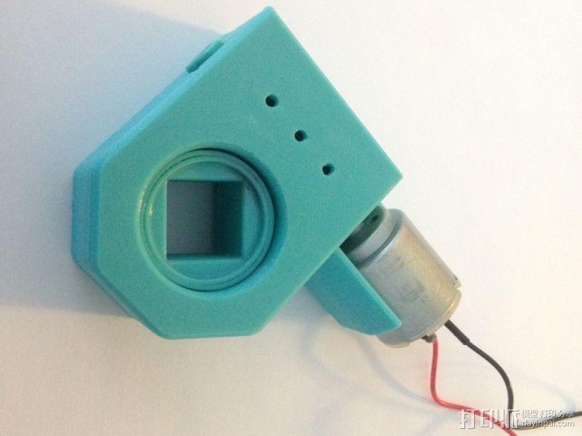 蜗轮驱动电源组 3D打印模型渲染图