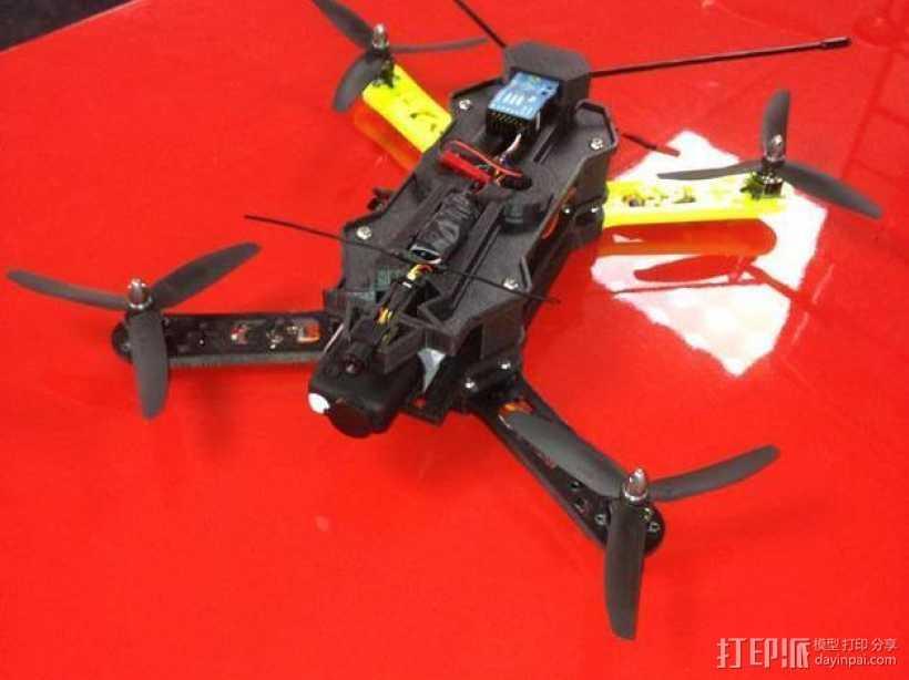 四轴飞行器相机固定架 3D打印模型渲染图