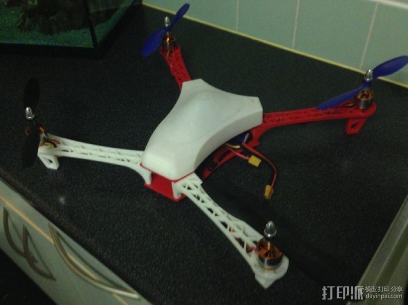 Spyda 500四轴飞行器 3D打印模型渲染图