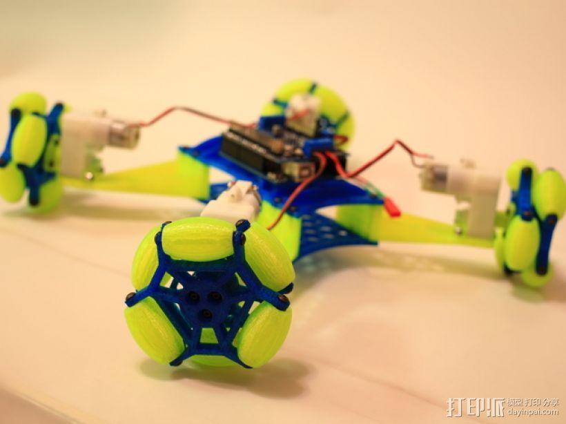 全向轮机器人 3D打印模型渲染图