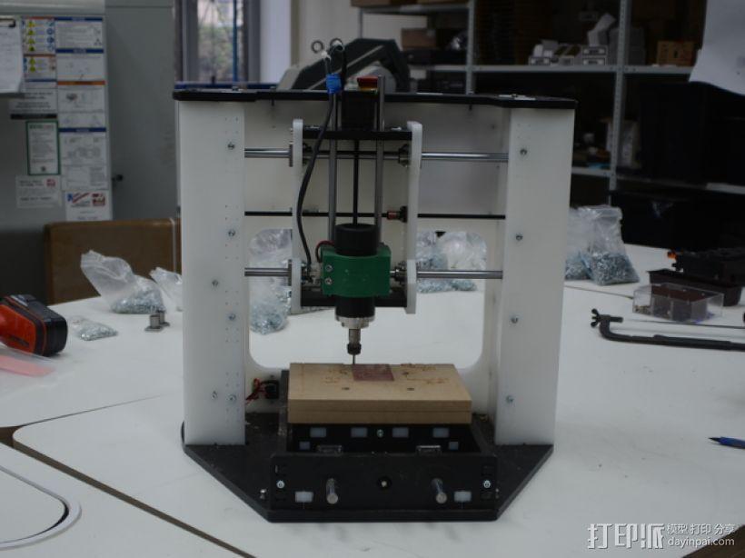DIY数控台式铣床 3D打印模型渲染图