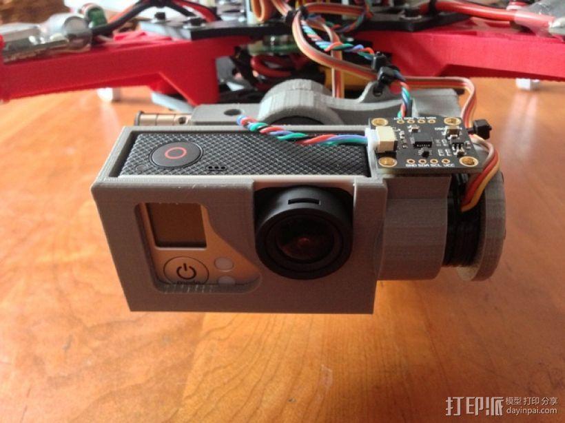 摄像机常平架 3D打印模型渲染图