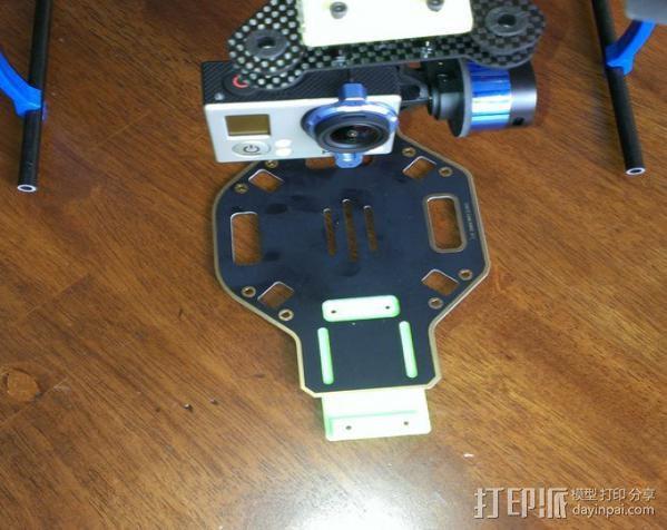 GoPro相机常平架底座 3D打印模型渲染图