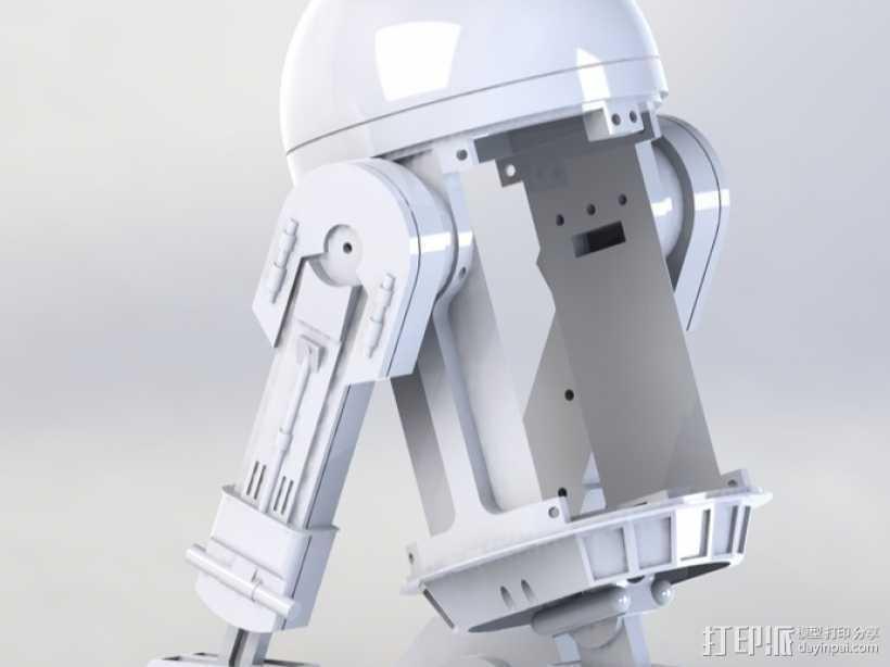 OPENBOT机器人 3D打印模型渲染图