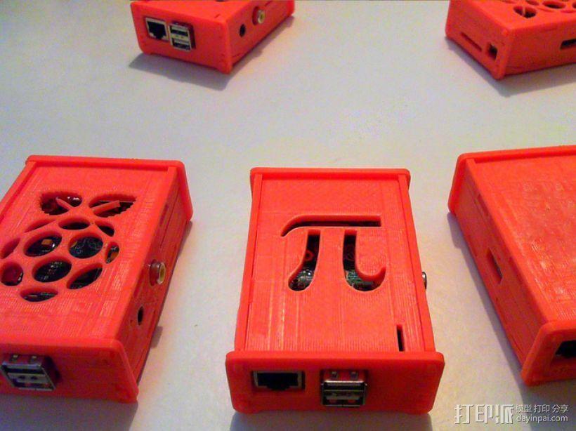 树莓派保护壳 3D打印模型渲染图