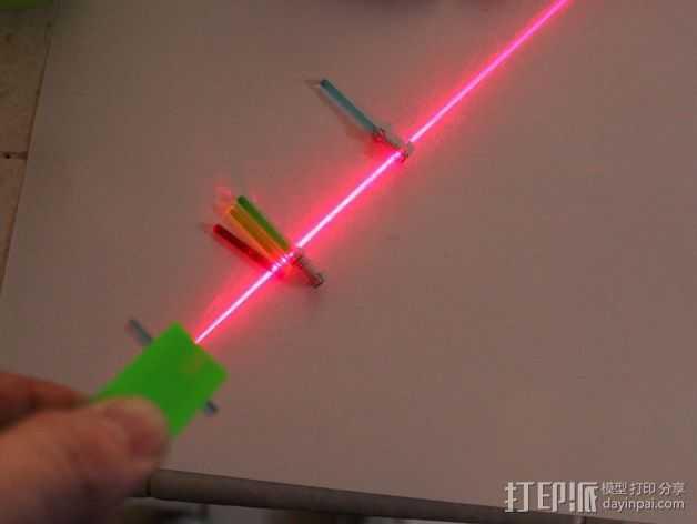 激光棒 3D打印模型渲染图