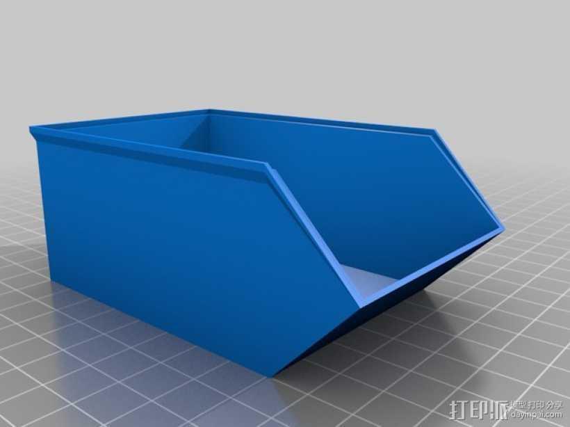 可堆叠零部件小盒 3D打印模型渲染图