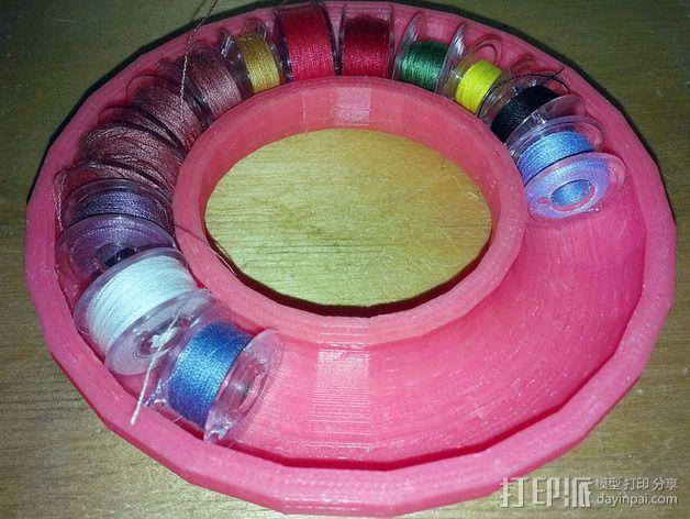 甜甜圈 线筒 3D打印模型渲染图