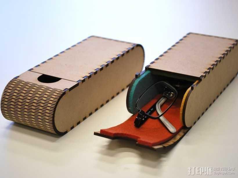 便携式眼镜盒 3D打印模型渲染图