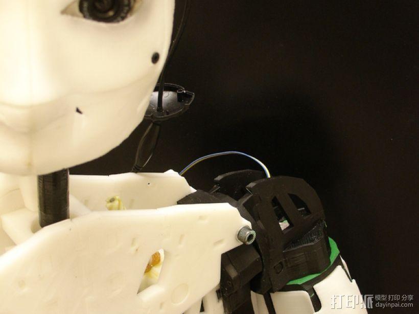 """InMoov""机器人的肩膀 3D打印模型渲染图"