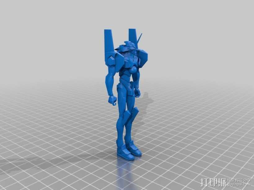 新世纪福音战士 EVA01 3D打印模型渲染图