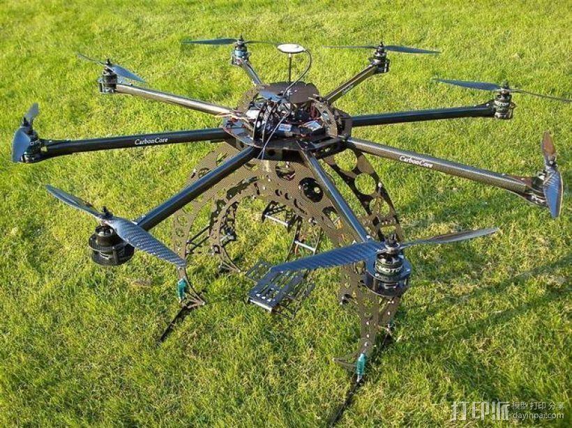 八轴飞行器 3D打印模型渲染图