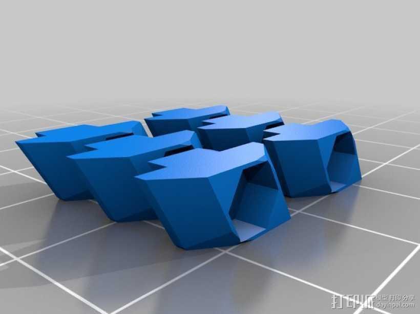 T形槽螺母  3D打印模型渲染图
