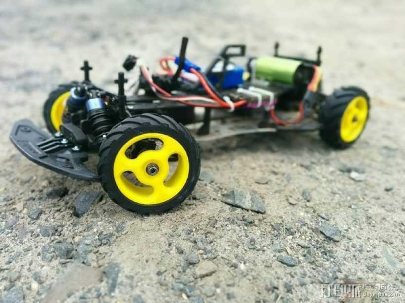 低速越野遥控赛车轮子和轮胎 3D打印模型渲染图