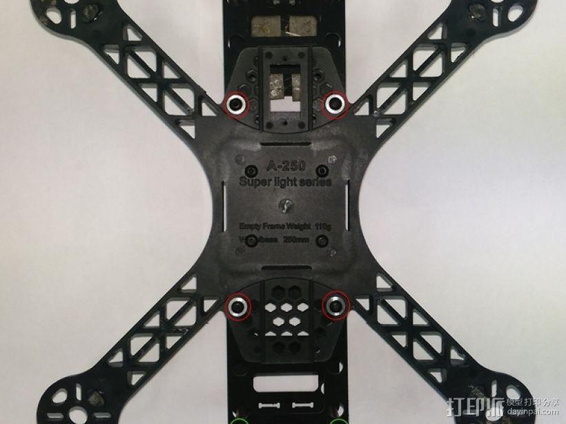 FPV250飞行器 起落架 3D打印模型渲染图