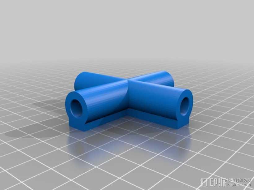 7.5毫米箭头连接器 3D打印模型渲染图