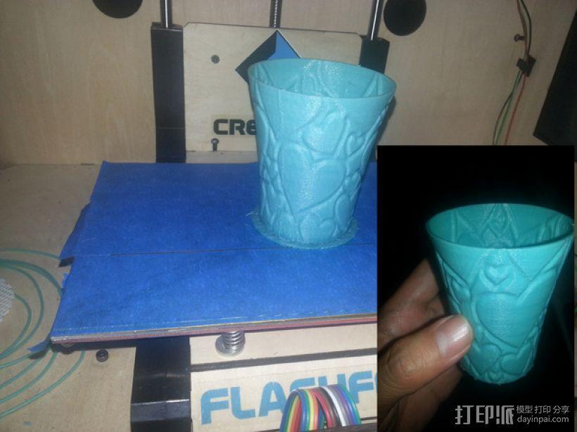 敞口杯 3D打印模型渲染图
