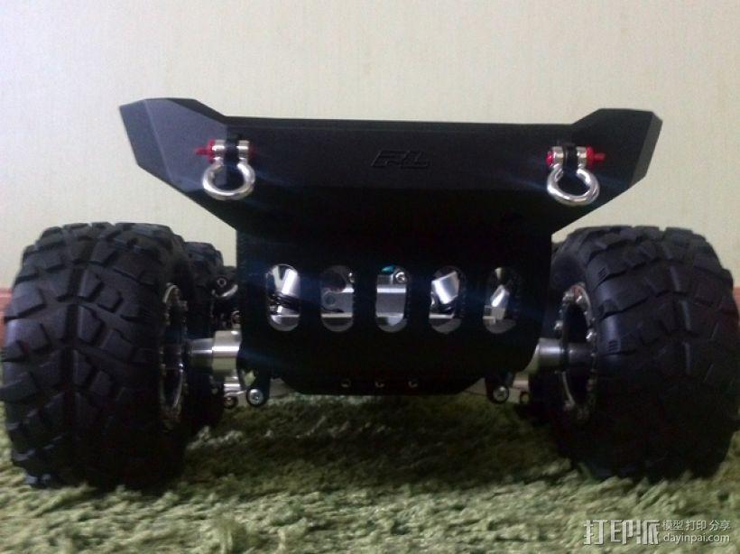 Tamiya TT-01遥控赛车 保险杠适配器 3D打印模型渲染图