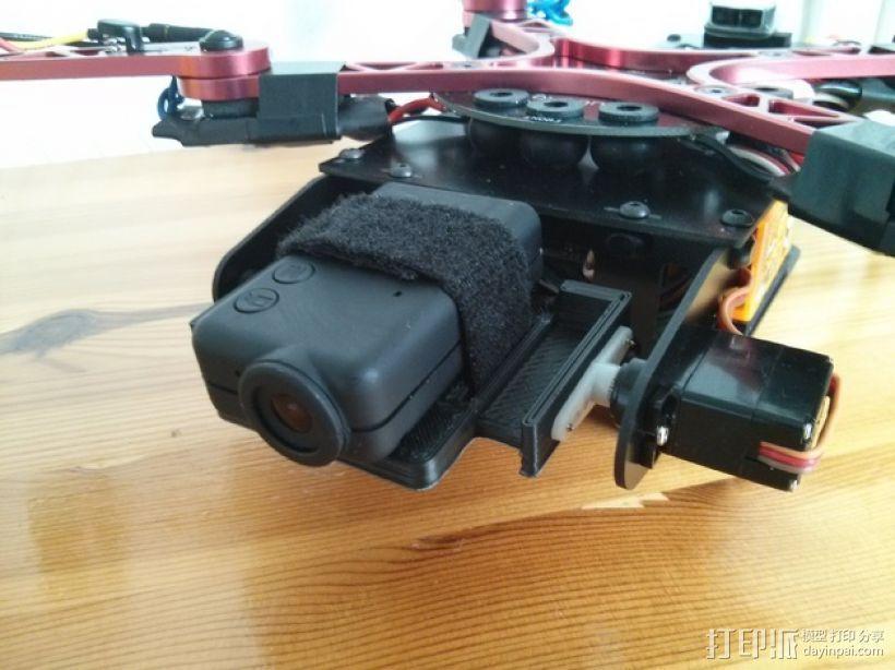 四轴飞行器 Mobius相机常平架 3D打印模型渲染图