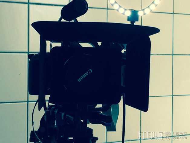 相机LED环形灯 3D打印模型渲染图