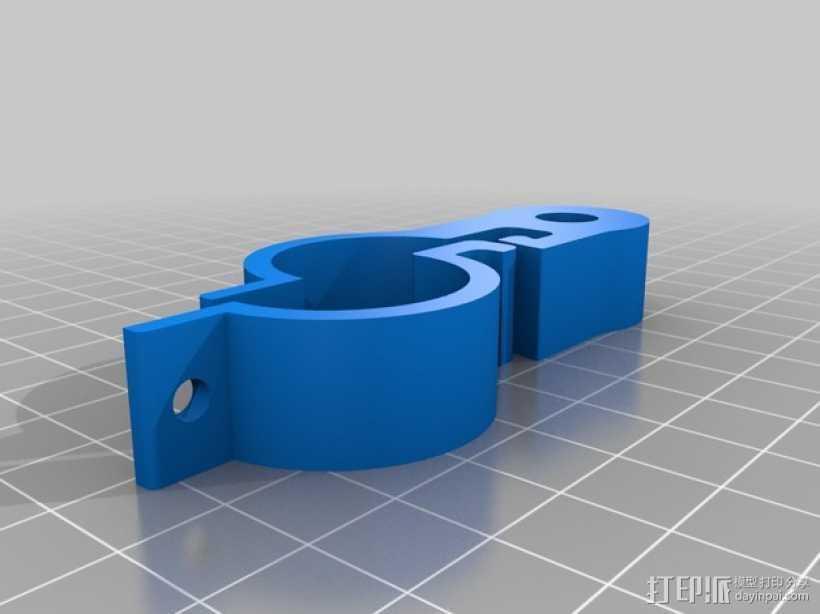 自行车把手码表固定夹 3D打印模型渲染图