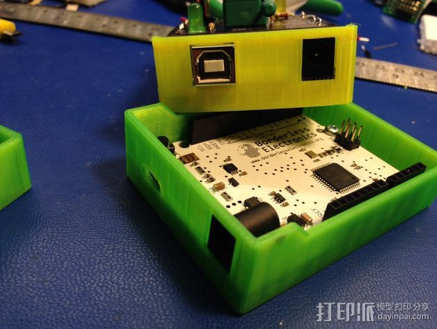 Arduino单片机板 托盘 3D打印模型渲染图