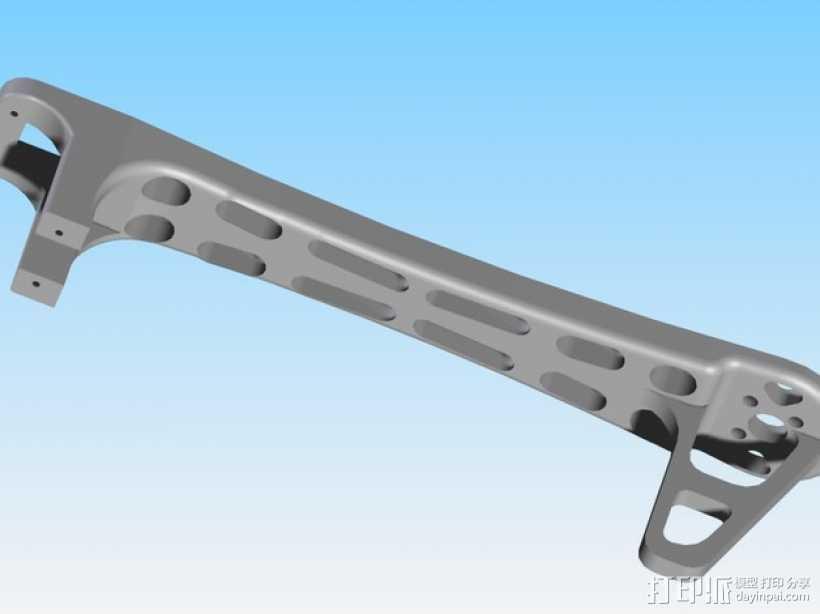 Dji Flamewheel F550四轴飞行器 替换臂 3D打印模型渲染图