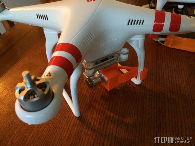 摄像机常平架锁定 3D打印模型渲染图