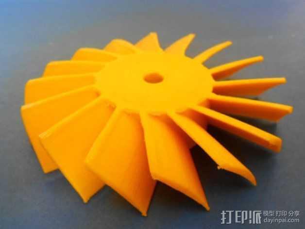 轴流式涡轮 3D打印模型渲染图