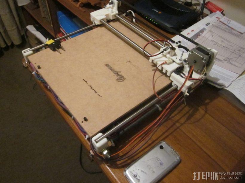 激光雕刻机  3D打印模型渲染图