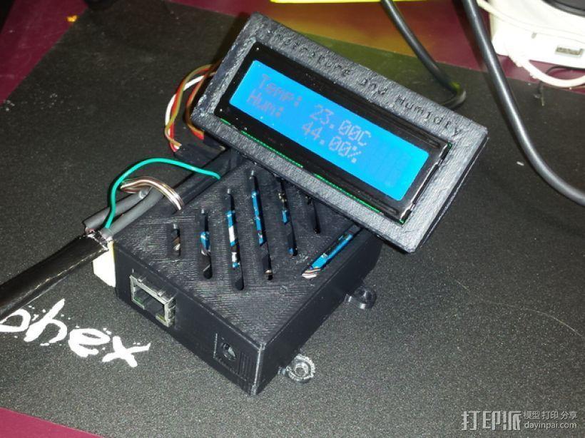 Arduino Ethernet电路板外壳 3D打印模型渲染图
