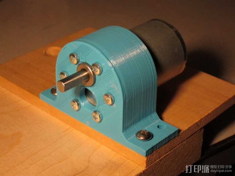 Pololu 37D齿轮降速马达 支架 3D打印模型渲染图