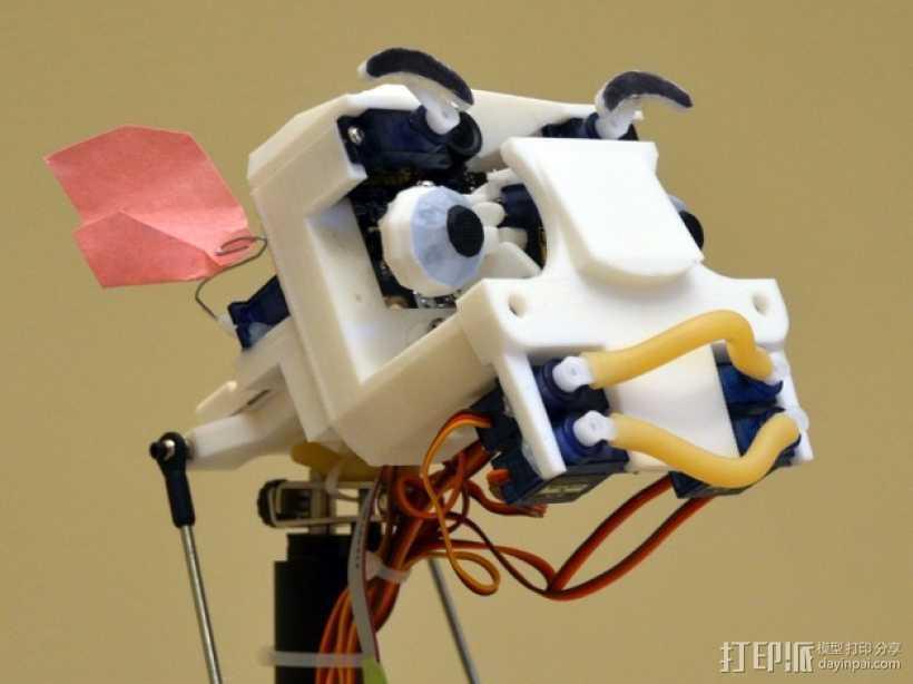 简易机器人头部 3D打印模型渲染图