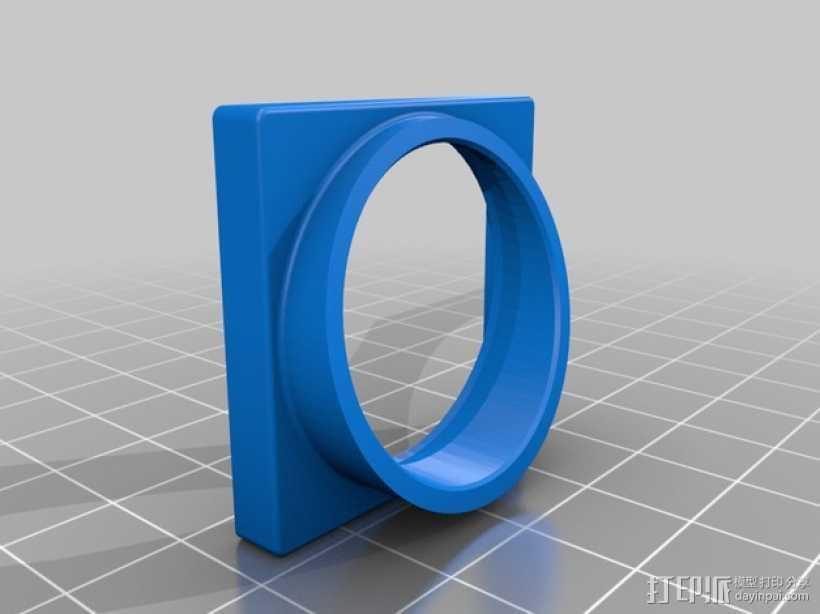 Taranis 的Visaton BF32扬声器适配器 3D打印模型渲染图