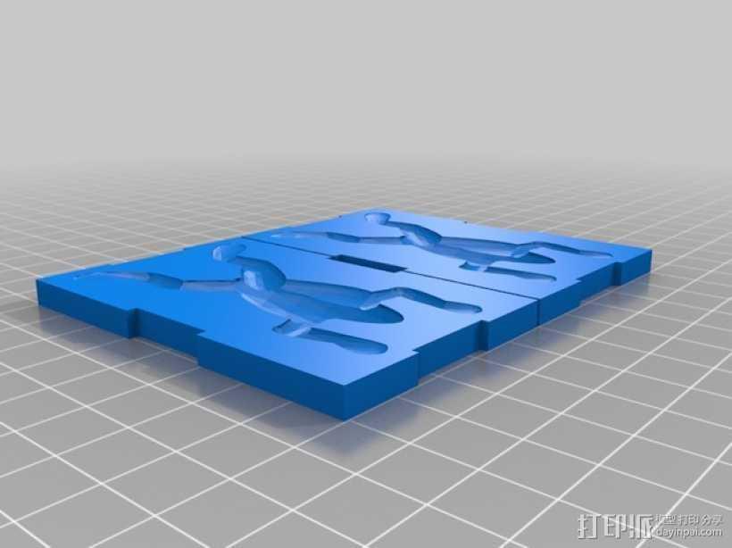 青蛙钓鱼鱼饵模板 3D打印模型渲染图