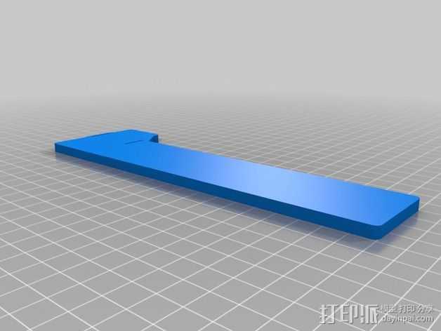 三轴飞行器组件 3D打印模型渲染图