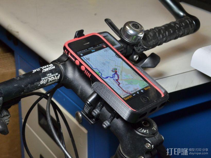 iPhone 自行车固定槽 3D打印模型渲染图