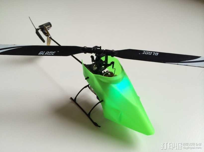 NanoCPX遥控飞机 飞机座舱罩 3D打印模型渲染图