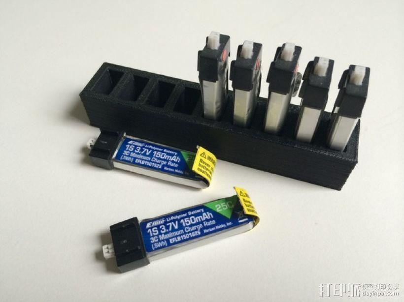 LiPo电池夹 3D打印模型渲染图