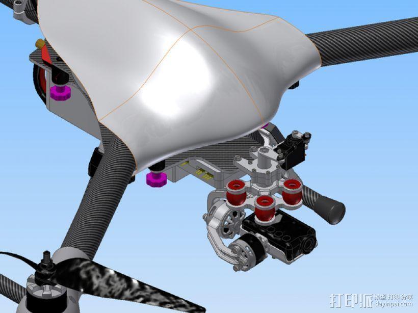 Mobius相机常平架 3D打印模型渲染图
