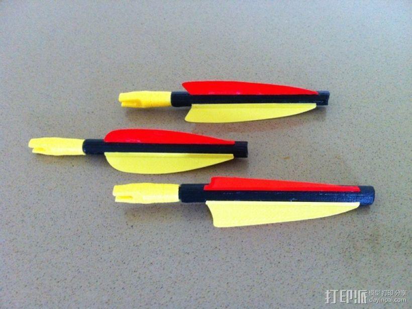 弓箭 尾羽 3D打印模型渲染图