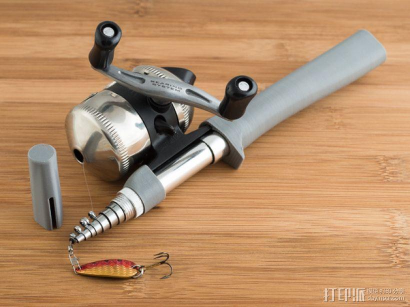 钓鱼杆 3D打印模型渲染图