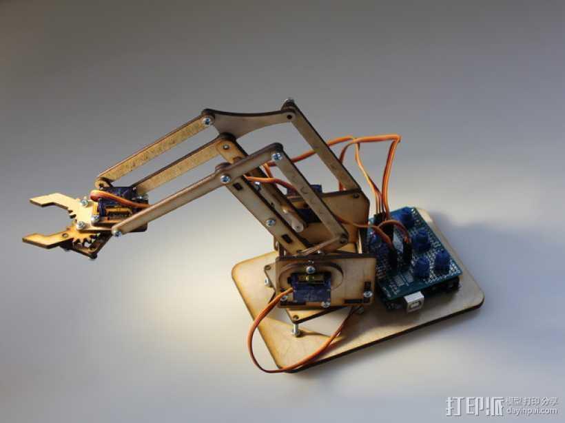 机械手臂 3D打印模型渲染图