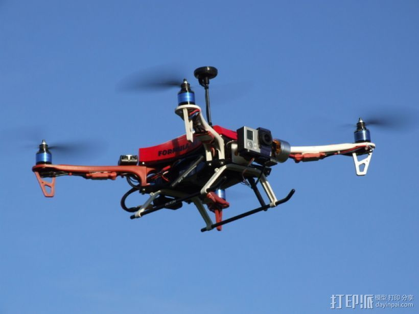 Formula 550 四轴飞行器 3D打印模型渲染图